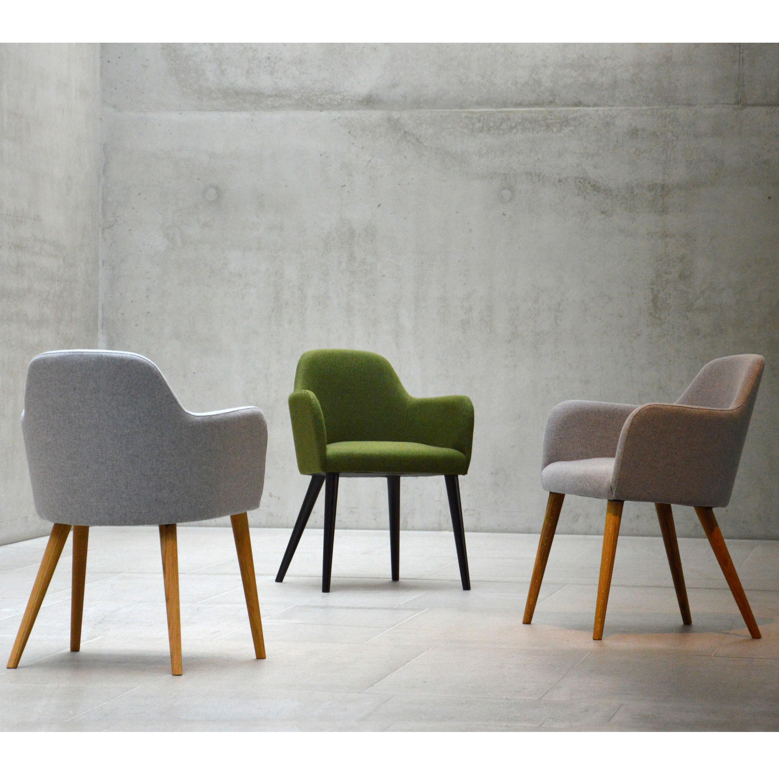 flaminia polsterstuhl eiche dunkelbraun. Black Bedroom Furniture Sets. Home Design Ideas