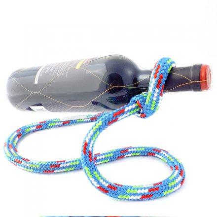 Flaschenhalter Tauwerk blau blau Segeltau