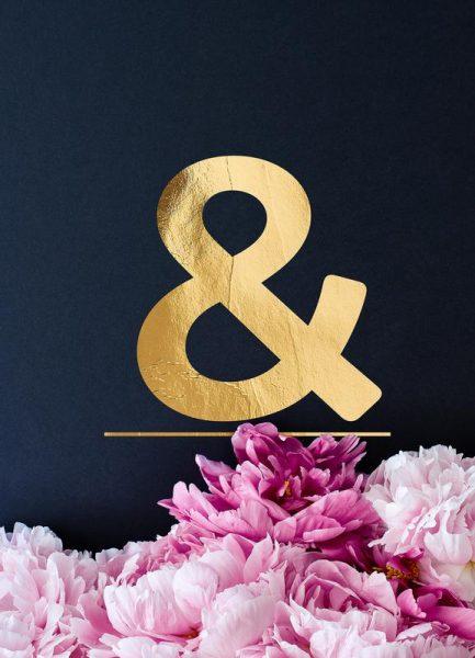 Flower Alphabet & Leinwandbild