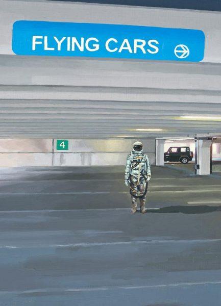 Flying Cars To The Right Leinwandbild