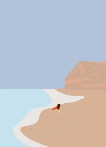 Fornøjelse Surf No. 01 Leinwandbild