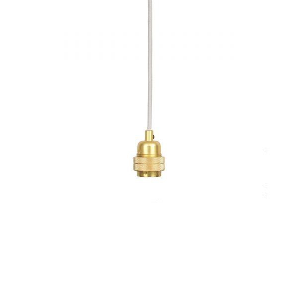 Frama E27 Lampenfassung-Set messing-weiß