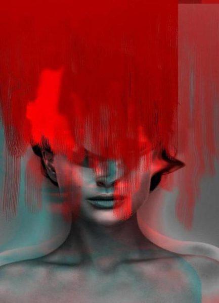 Frau Subtle Red Head Mix Leinwandbild