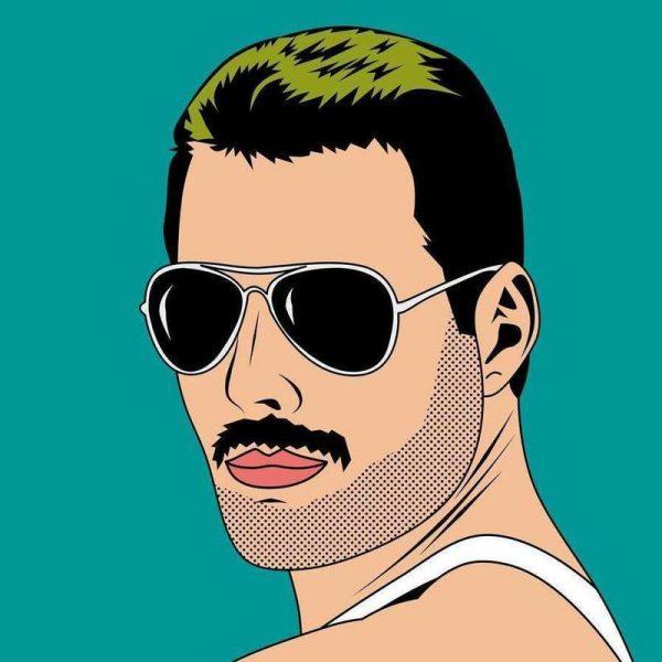 Freddie Mercury Leinwandbild