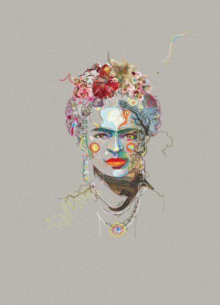 Frida 3 Leinwandbild