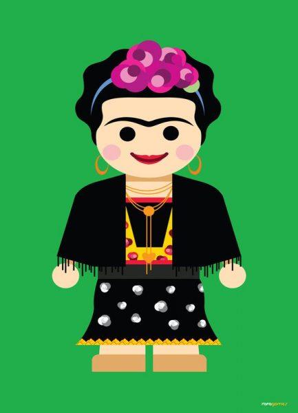 Frida Kahlo Toy Leinwandbild