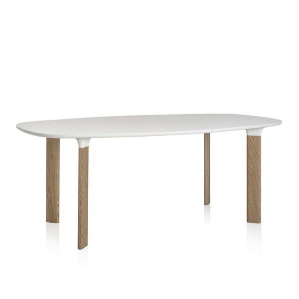 Fritz Hansen - Analog Tisch weiß / EicheWeißT:105 H:72 B:185