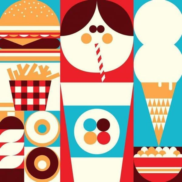 Fun Food Leinwandbild