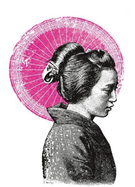 Geisha Leinwandbild