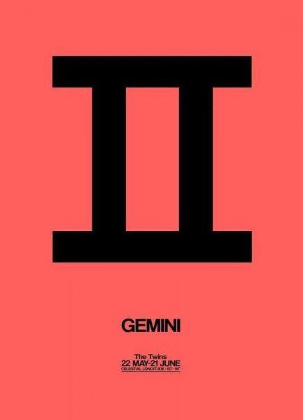 Gemini Zodiac Sign Black Leinwandbild