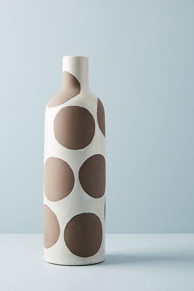 Gepunktete Keramikvase - Brown44270072EU