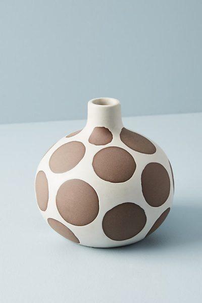 Gepunktete Keramikvase - Brown44270130EU