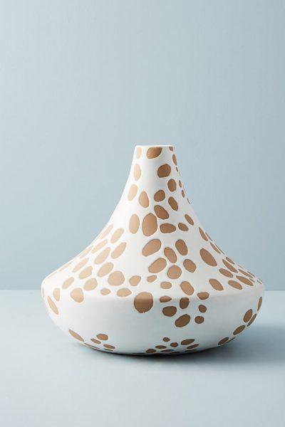 Gepunktete Keramikvase - Neutral Motif44270080EU