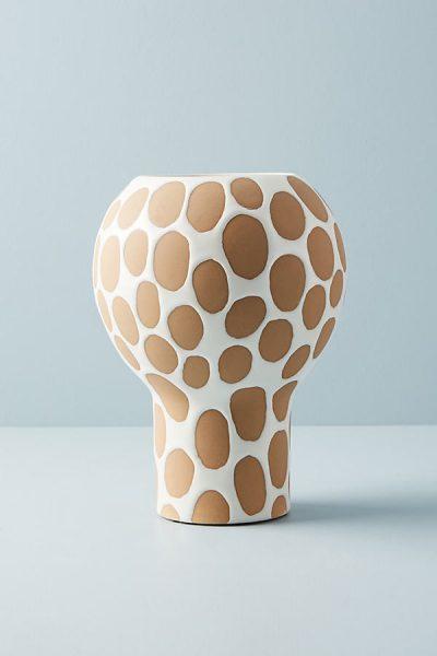 Gepunktete Keramikvase - Neutral Motif44270114EU