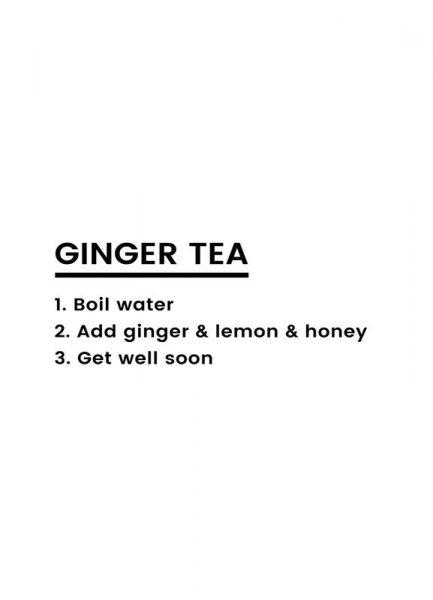 Ginger Tea Recipe Leinwandbild