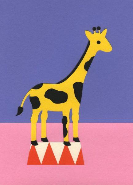 Giraffe Aloopi Leinwandbild