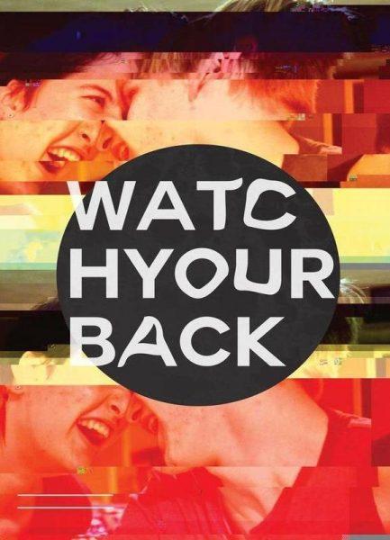 Glitch Watch Your Back Leinwandbild