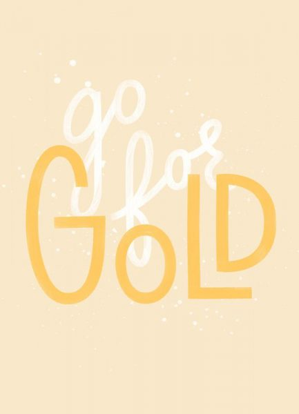 Go For Gold Leinwandbild