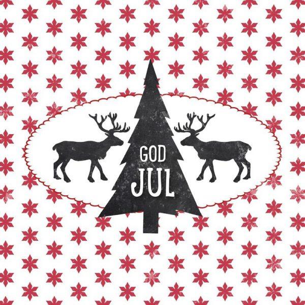 God Jul Leinwandbild