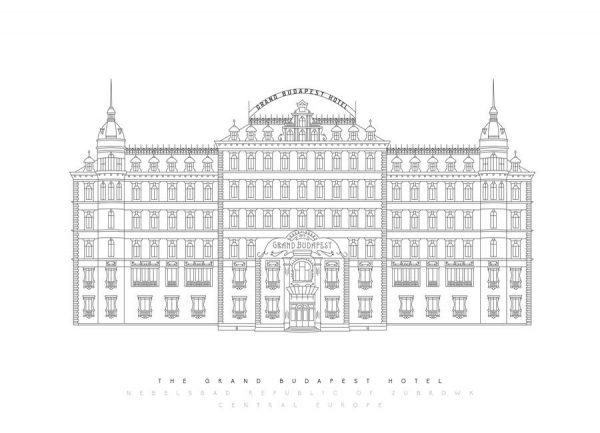 Grand Budapest Hotel Leinwandbild