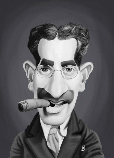 Groucho Marx Leinwandbild