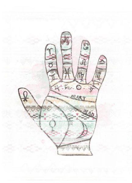 Hand Leinwandbild