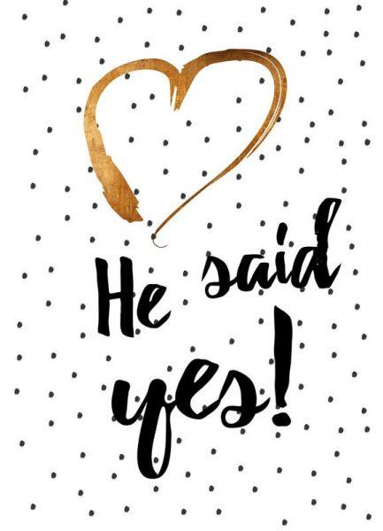 He Said Yes Leinwandbild