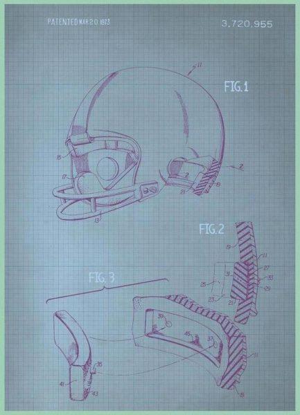 Helmet Leinwandbild