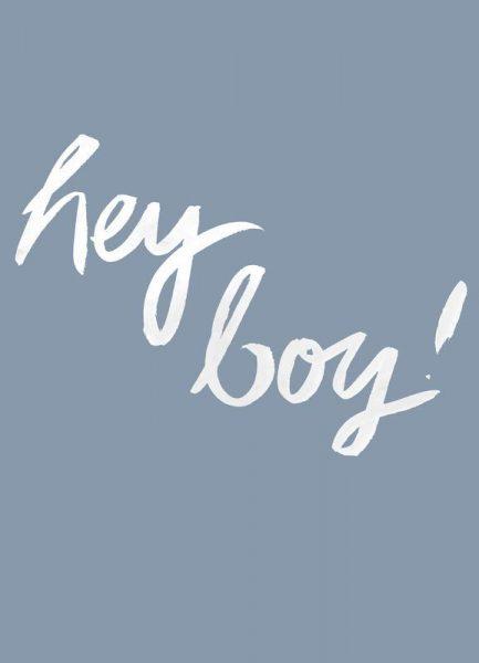 Hey Boy Leinwandbild