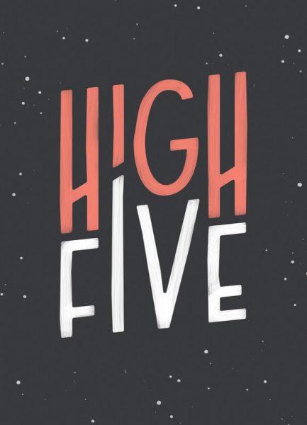 High Five Leinwandbild