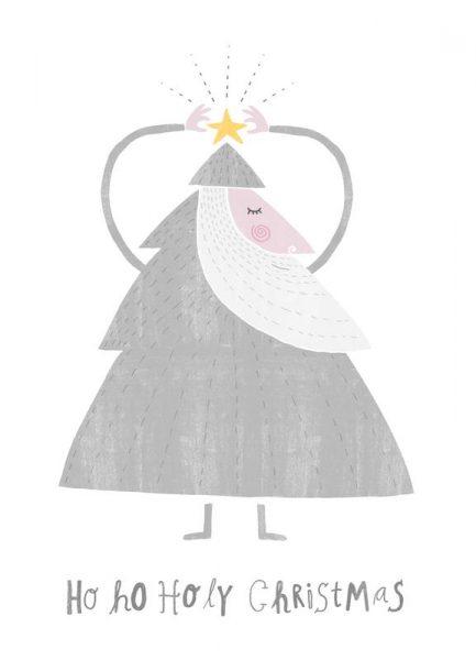 Ho Ho Holy Christmas Leinwandbild