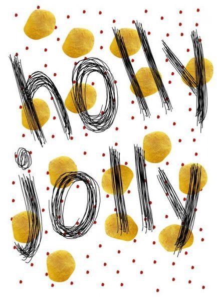 Holly Jolly Leinwandbild