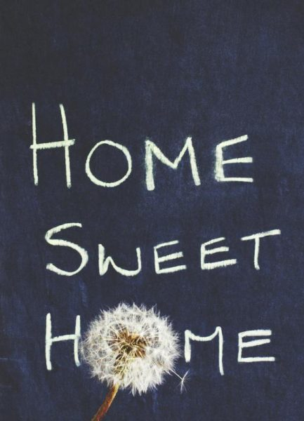 Home Sweet Home Leinwandbild