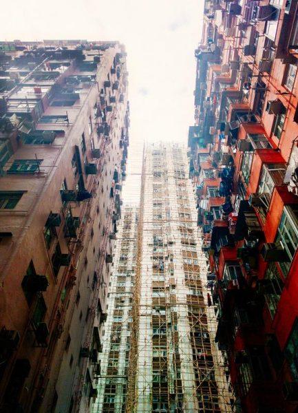 Hong Kong Architecture Leinwandbild