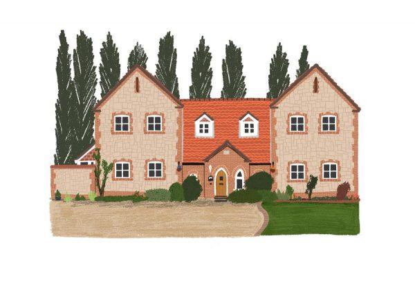 House 1 Leinwandbild