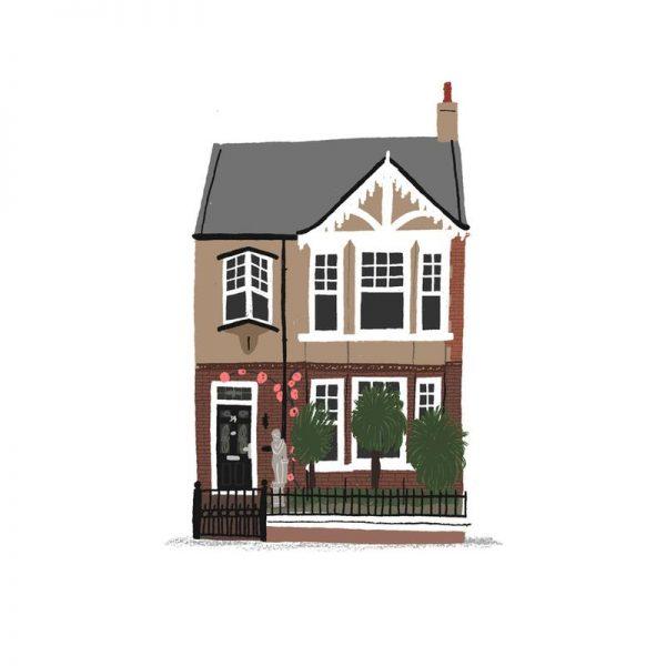 House 2 Leinwandbild