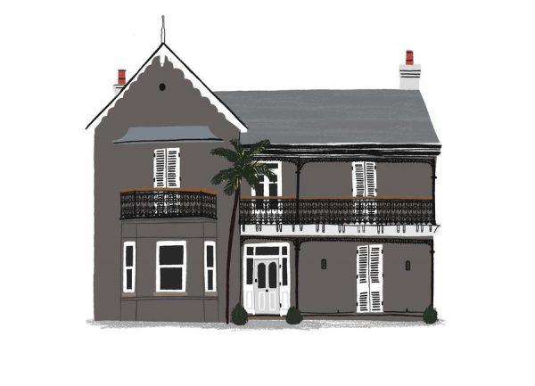 House 3 Leinwandbild