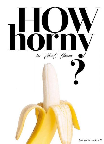 How Horny Is That Then Leinwandbild