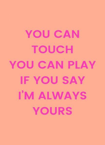 I´m Always Yours Leinwandbild