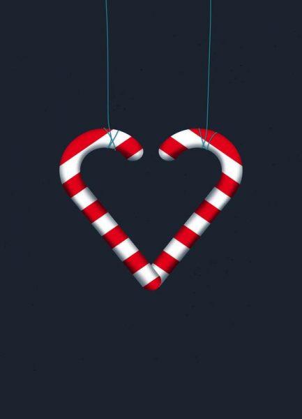 I Love Candy Canes Leinwandbild