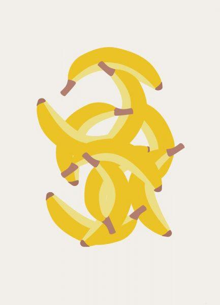 Jeg Elsker Bananer Leinwandbild