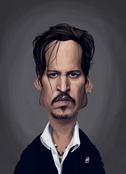 Johnny Depp Leinwandbild