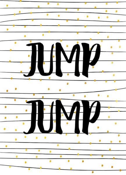 Jump Leinwandbild