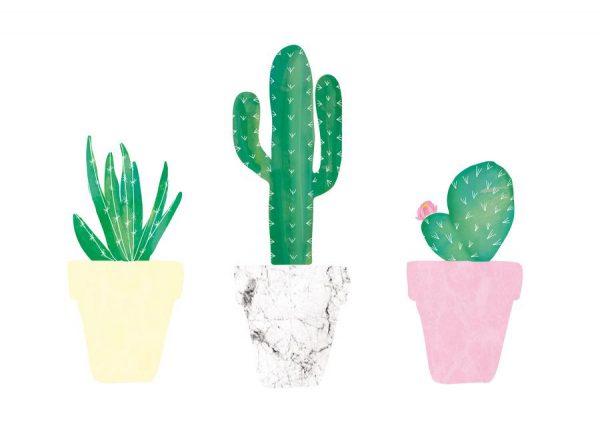 Kaktusliebe Leinwandbild