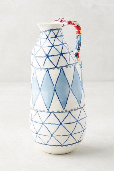 Keramisk Blue Star Vase - Blue9551227