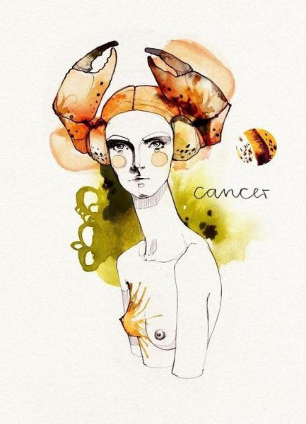Krebs Leinwandbild