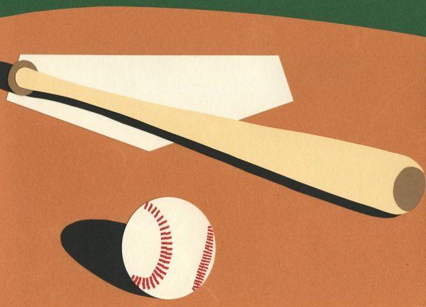LA Baseball Field Leinwandbild