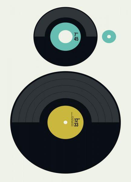 LP vs. EP Leinwandbild