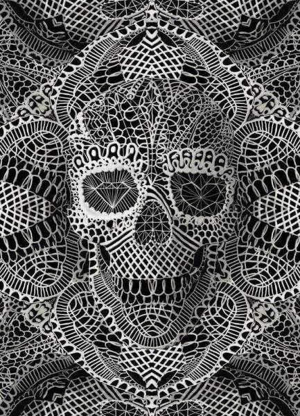 Lace Skull Leinwandbild