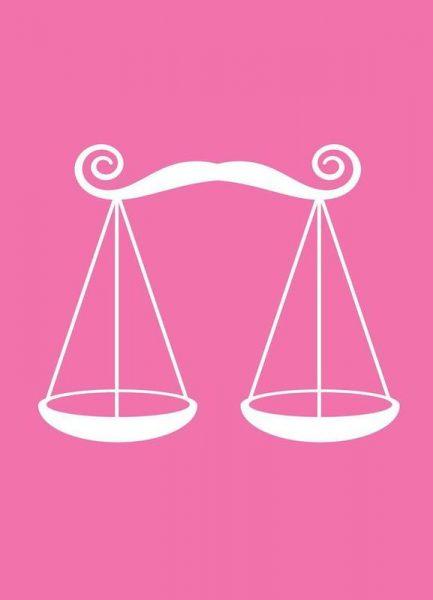 Libra Pink Leinwandbild